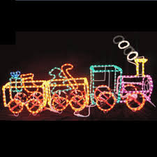 holiday yard decorations outdoor christmas lighted train lights for garden decoration