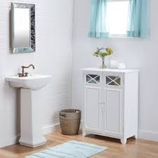 white wooden bathroom furniture. white wood and glass bathroom linen cabinet wooden furniture t
