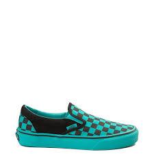 Vans Slip On Checkerboard Skate Shoe Aqua Black