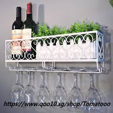 wall mount metal wine rack wine bottle