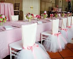 chair covers. ballerina themed | tutu inspired chair covers + sash - such a pretty party for