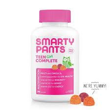SmartyPants <b>Teen Girl Complete</b> Multivitamin Gummies - <b>Lemon</b> ...