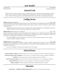 Chef Resume Template Example For Free Ideas Cook Resume Examples