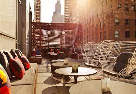 Living Room Bar And Terrace W New York Downtown Hotel Wonderland Magazine