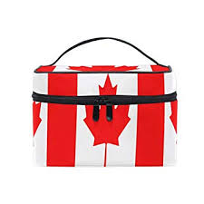 amazon makeup bag canada map flag travel cosmetic bags organizer train case toiletry make up pouch beauty