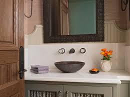 Bathroom backsplash ideas Traditional Powder Room by Annette English