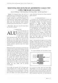 Arithmetic Logic Unit Design Pdf Mounting The Outline Of Arithmetic Logic Unit Using The