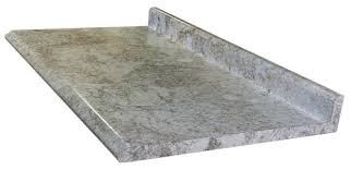 customcraft countertops high resolution 25 x 61 carrara pearl laminate countertop with both ends capped at menards