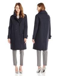tommy hilfiger womens wool blend neoprene fashion coat