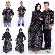 Model baju atasan anak perempuan. Gamis Couple Batik Kombinasi Polos Currentyear