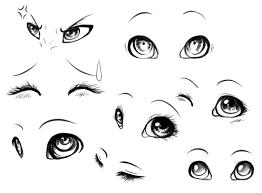 drawn cute eye 4