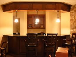 modern basement bar. Stunning Bar Design For Basement Decoration : Modern Ideas With Dark Brown Wooden