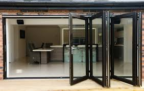 Large Black Framed Bifold Patio And Kitchen Door of Beautiful ...