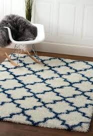 white blue rug soft plush trellis 3 2 x 5 jute