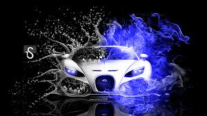 bugatti fire water abstract mix