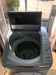 máy giặt sanyo 9kg invter mới 98%   Mua bán đồ cũ tại Quảng Ninh