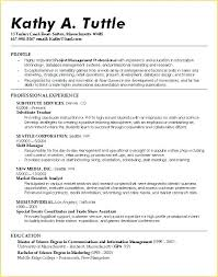 College Student Resume Template Sample Job Resume For College
