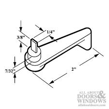 2 inch arcadia plastic lever latch handle for sliding patio door gray