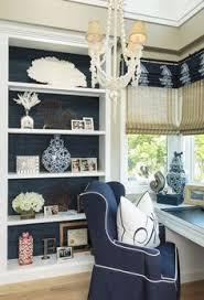 navy coastal style home office room by barclay butera coastal home nautical design