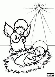Small Picture Jesus Mary and Joseph under the Christmas star coloring page