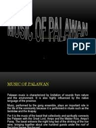 He then sells the fish, earning just enough to buy coconut wine. Music Of Palawan Report Musical Instruments Flute