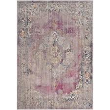 safavieh bristol faded bohemian pink gray rug