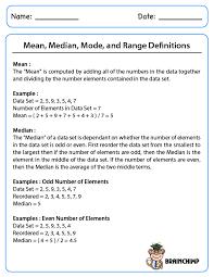 Mean Median Mode Range Word Problems Worksheets Free Worksheets ...