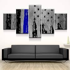 abstract 5 panel canvas art wall decor