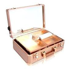 makeup train case with lights aluminum china rose gold color light pro nyx artist extra large makeup train case