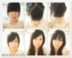 cut bangs in diy style