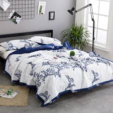 blue and white bedspread. Delighful White 100 Cotton Quilt Blue White Porcelain Flowers Printed Quilts Bedspread Bed  Cover Quilted Soft Blanket In Blue And White E
