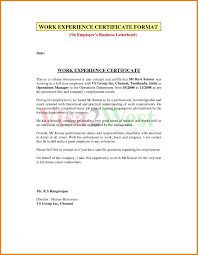 Work Experience Letter Format For Receptionist Copy As Hotel Work