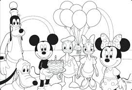 Mickey And Minnie Mouse Coloring Pages Pdf Paint Packed With