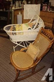 Antique Wicker Baby Bassinet - for Sale in Biron, Wisconsin ...