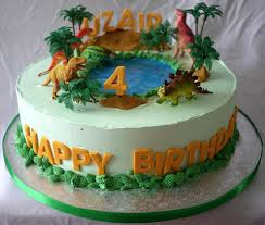 Creative Dinosaur Birthday Cake