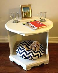 end table dog bed wooden