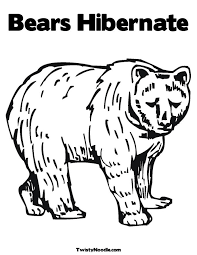free coloring pages of animals hibernating worksheets ...