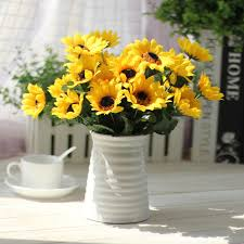 Image Girassol 1bouquet Artificial Sunflower For Home Decor Wedding Decorative Sunflowers Crafts Decoration For Party Decoration Aliexpresscom 1bouquet Artificial Sunflower For Home Decor Wedding Decorative