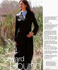 the leather maxi coat offered by spiegel in 1999