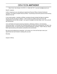 Cover Letters For It Professionals Best Professional Security Officer Cover Letter Examples Livecareer