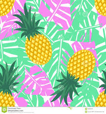 Pineapple Pattern Best Pineapple With Tropical Leaves Seamless Pattern Cute Vector