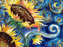 sunflowers tutorial vincent van gogh starry night beginner acrylic painting you