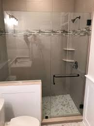 shower enclosures with bench. Brilliant Shower Door With Panel Cut Around Bench Or Knee Wall  Medford Lakes NJ South For Shower Enclosures L
