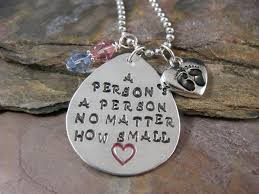 Pro Life Quotes 58 Awesome Hand Stamped A Person's A Person No By CommunionOfSaints On