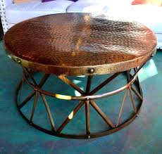 charming hammered copper end table collection monikakrampl info pertaining to coffee decorations 9