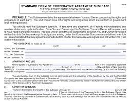 Sublease agreements help finish lease contracts without vacancies. Sublet Policy And Sublease Agreement For Nyc Co Ops Elika New York