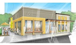 restaurant exterior drawing.  Drawing Concept Architectural Drawing Restaurant  Google Search Inside Restaurant Exterior Drawing Pinterest