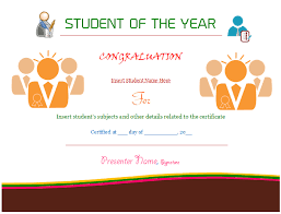 Student Of The Year Certificate Template (Award) - Dotxes