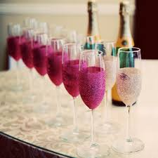 diy glitter champagne flutes virginia wedding duhon photography
