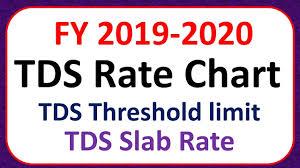 Tds Rate Chart Fy 2019 2020 Ay 2020 2021